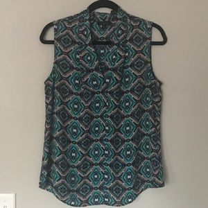 The Limited sleeveless v neck top w vibrant colors